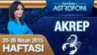 AKREP burcu haftalık yorumu 20-26 Nisan 2015