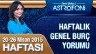 Haftalık astroloji ve burç yorumu videosu 20-26 Nisan 2015