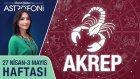 AKREP burcu haftalık yorumu 27 Nisan - 3 Mayıs 2015