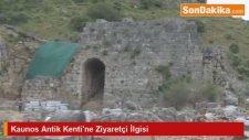 Kaunos Antik Kenti'ne Ziyaretçi İlgisi