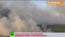 Ukrayna'daki Orman Yangını Çernobil Nükleer Santraline Doğru İlerliyor
