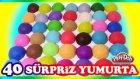 Oyun Hamuru 40 Sürpriz Yumurta Oyuncak Açımı