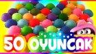 Oyun Hamuru 50 Sürpriz Yumurta Oyuncak Açımı
