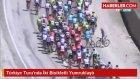 Türkiye Turu'nda İki Bisikletli Yumruklaştı
