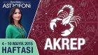 AKREP burcu haftalık yorumu 4-10 Mayıs 2015