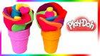 Oyun Hamuru Gül Şekilli Dondurma Yapımı