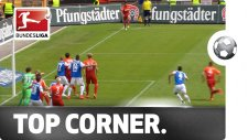Almanya'da Türk futbolcu kornerden golü attı