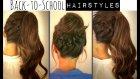 CUTE BACK-TO-SCHOOL HAIRSTYLES | BRAIDED PONYTAIL & MESSY BUN UPDOS  FOR MEDIUM LONG HAIR TUTORIAL