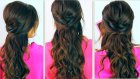 CUTE BACK-TO-SCHOOL HAIRSTYLES | EVERYDAY PROM CURLY HALF-UP UPDOS FOR MEDIUM LONG HAIR TUTORIAL