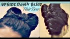 HAIR BOW TUTORIAL UPSIDE DOWN BRAID BUN | FRENCH STYLE UPDO HAIRSTYLE FOR  LONG HAIR LADY GAGA