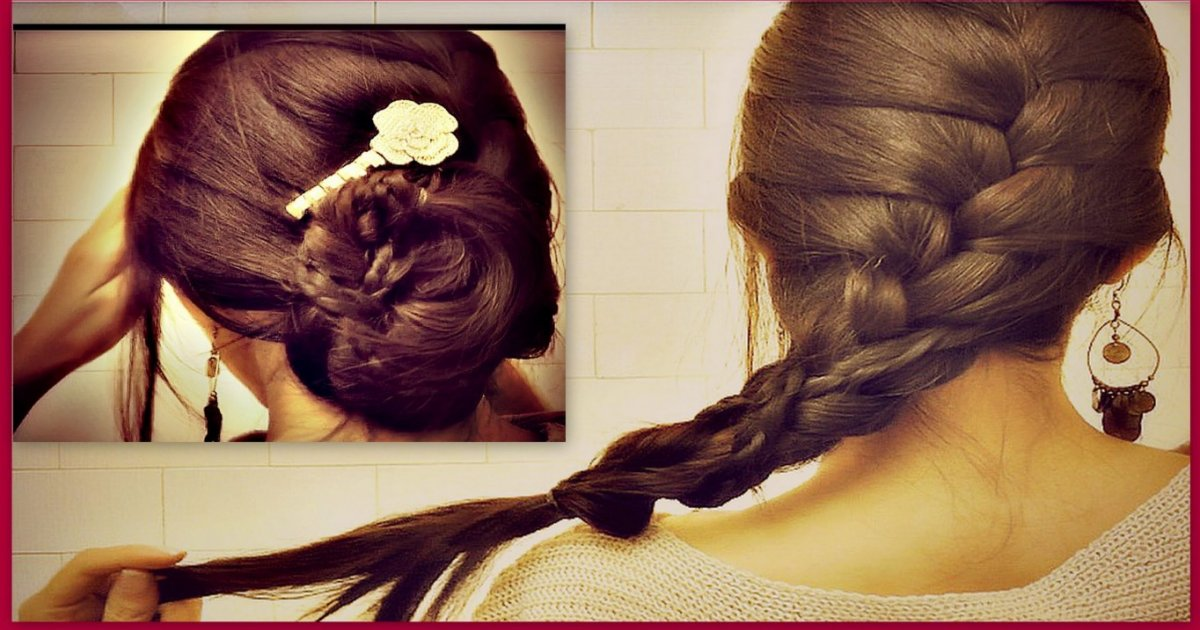 how to put your own hair in a french twist