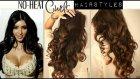 NO-HEAT KIM KARDASHIAN CURLS WAVES | HEATLESS CUTE SCHOOL HAIRSTYLES FOR MEDIUM LONG HAIR TUTORIAL