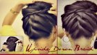 HAIRSTYLES |KOREAN BUN UPSIDE DOWN BRAIDED BUN UPDO FRENCH ROPE BRAID FOR MEDIUM LONG HAIR TUTORIAL