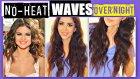 NO-HEAT SELENA GOMEZ CURLS OVERNIGHT TUTORIAL | HEATLESS WAVES HAIRSTYLES FOR MEDIUM LONG HAIR