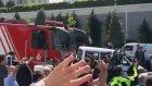 Fenerbahçe Ülker'i İtfaiye ile uğurladılar