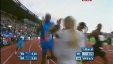 Hızını Alamayıp Çiçek Veren Kıza Çarpmak - Usain Bolt