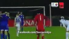 1 Puan Aldığı İçin Çılgınca Sevinen San Marinolu Futbolcular