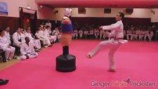 Siyah Kuşak Taekwondocuların Teknik Kapışması