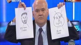 Ahmet Çakar'ın Ertem Şener Ve Sinan Engin'in Karikatürünü Çizmesi