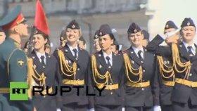 Rus Kadın Polislerin Mezuniyet Töreni