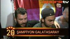Galatasaraylı futbolcuların şampiyonluk coşkusu!