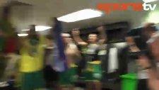 Norwich City soyunma odasında büyük coşku!