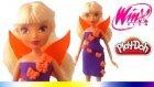 Play Doh Oyun Hamuru Winx Oyuncak Bebek Kıyafet Tasarımı