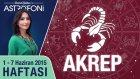 AKREP burcu haftalık yorumu 1-7 Haziran 2015