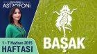 BAŞAK burcu haftalık yorumu 1-7 Haziran 2015
