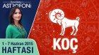 KOÇ burcu haftalık yorumu 1-7 Haziran 2015