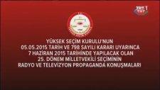 Emine Ülker Tarhan'ın 31 Mayıs 2015 tarihli, Seçim Propaganda Konuşması