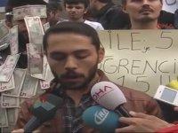 Kira Fiyatlarını Protesto Eden Üniversiteliler - Isparta