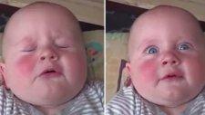 Bebeğin Ağır Çekimde Hapşırma Görüntüsü