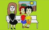 Çocuklar İçin Okulda Uyandırıcı Animasyon