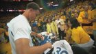Stephen Curry'nin maç öncesi kızıyla yaptığı uğur