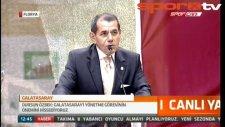 Dursun Özbek mazbata töreninde konuştu!