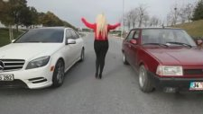 Şahin ve Mercedes Kapışması(Araba Yarışı)