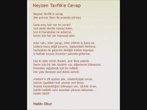 Hakkı Okur Dan Neyzen Tevfik E Cevap şiir Izlesenecom