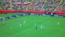 Alex Morgan'ın Kolombiya ağlarına attığı gol