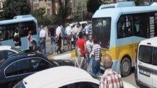 Minibüsçülerin Polise Saldırı Anı Kamerada
