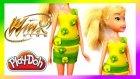 Winx Oyun Hamuru Oyuncak Bebek Stella Kıyafet Tasarımı