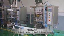 10 Kanallı Stick Şeker Dolum Fişek Makinası
