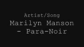 Marilyn Manson - Para-Noir