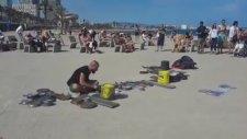 Plajda Canlı Techno Müzik