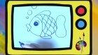 Resimler çizelim - Balık - Çocuklar için eğitici çizgi film