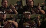 Ukulele İle Metallica One Çalmak Tüm Enstrümanlar ve Vokal