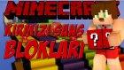 Minecraft Kırmızı Şans Blokları Yarışı !