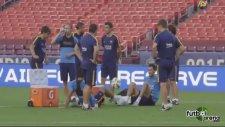 Barcelona antrenmanında Arda ve Busquets şov