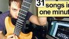 1 Dakikada Elektro Gitar ile 31 Farklı Şarkı Çalan Adam