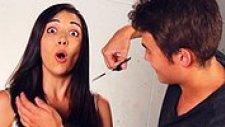 Erkekler Kız Arkadaşlarının Saçını Kesiyor